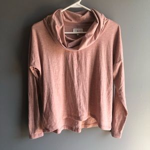 Lou & Grey Cowl Neck Sweater Pull Over Top